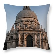 Basilica Of Santa Maria Della Salute Venice Throw Pillow