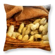 Basket Of Peanuts Throw Pillow