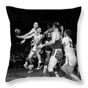 Basketball Game, C1960 Throw Pillow