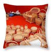 Basketwork Throw Pillow