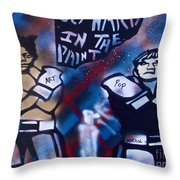 Basquait And Worhol Go Hard In The Paint Throw Pillow