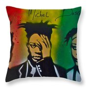 Basquait Me Myself And I Throw Pillow
