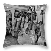 Bass Fiddle Convention Throw Pillow