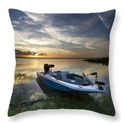 Bass Fishin' Evening Throw Pillow