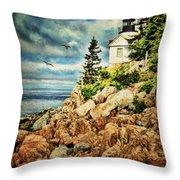 Bass Harbor - Acadia Np Throw Pillow