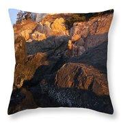 Bass Harbor Lighthouse Sunrise Acadia National Park Throw Pillow