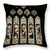 Bath Abbey Stained Glass Throw Pillow