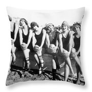 Bathing Beauties, 1916 Throw Pillow