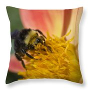 Bathing In Pollen  Throw Pillow