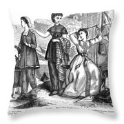 Bathing Suits, 1870 Throw Pillow