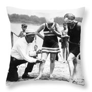 Bathing Suits, 1922 Throw Pillow