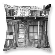 Baths Twenty Five Cents Bw Throw Pillow