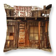 Baths Twenty Five Cents Throw Pillow