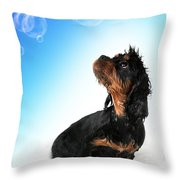Bathtime Fun Throw Pillow by Jane Rix