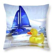 Bathtime Fun  Throw Pillow
