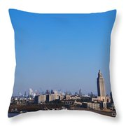 Baton Rouge Skyline Louisiana  Throw Pillow