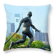Batters City View Throw Pillow by Alice Gipson