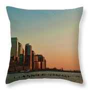 Battery Park City Throw Pillow