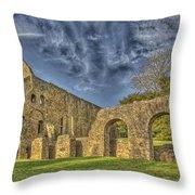 Battle Abbey Ruins Throw Pillow