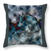 Battle Cloud - Horse Of War Throw Pillow