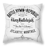 Battle Hymn Of Republic Throw Pillow