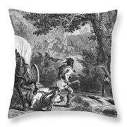 Battle Of Bloody Brook 1675 Throw Pillow