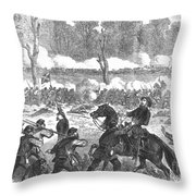Battle Of Chickamauga 1863 Throw Pillow