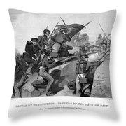Battle Of Churubusco, 1847 Throw Pillow