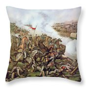 Battle Of Five Forks Virginia 1st April 1865 Throw Pillow