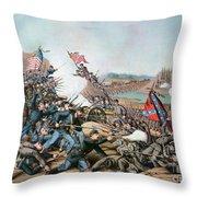 Battle Of Franklin, 1864 Throw Pillow