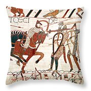 Battle Of Hastings Bayeux Tapestry Throw Pillow