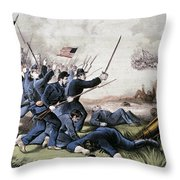 Battle Of Jonesboro, 1864 Throw Pillow