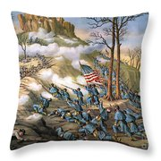 Battle Of Lookout Mount Throw Pillow