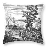 Battle Of Malplaquet, 1709 Throw Pillow