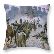 Battle Of Solferino And San Martino Throw Pillow