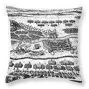 Battle Of Steinau, 1633 Throw Pillow