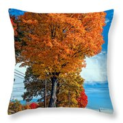 Battle Of The Maples 2 Throw Pillow