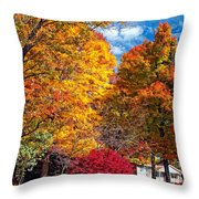Battle Of The Maples Throw Pillow