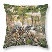 Battle Of The Wilderness May 1864 Throw Pillow