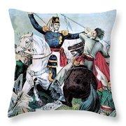 Battle Of Veracruz, Mexican-american Throw Pillow