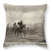 Battle Of Williamsburg Throw Pillow