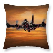 Battle Scarred But Heading Home Throw Pillow