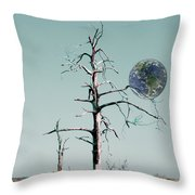 Battle Scarred Throw Pillow
