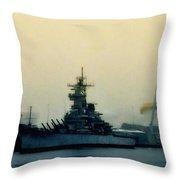 Battleship New Jersey Throw Pillow