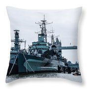Battleships And Tugboat Throw Pillow