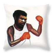 Battling Siki Throw Pillow