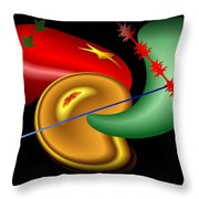 Baubles And Barbs Throw Pillow
