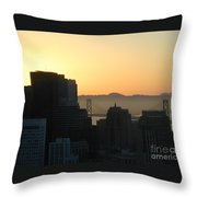 Bay Bridge Throw Pillow