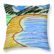 Bay Throw Pillow by Hakon Soreide