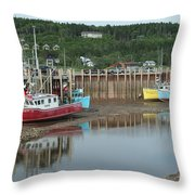 Bay Of Fundy - Low Tide Throw Pillow
